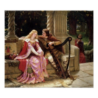Tristan & Iseult by Edmund Leighton 1902 Poster