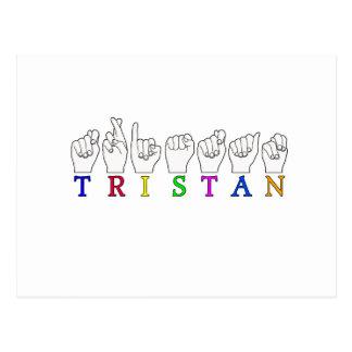 TRISTAN NAME FINGERSPELLED ASL SIGN POSTCARD