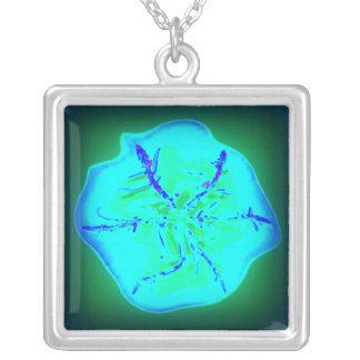 Tristan's Crazy Heat Snowflake Square Pendant Necklace