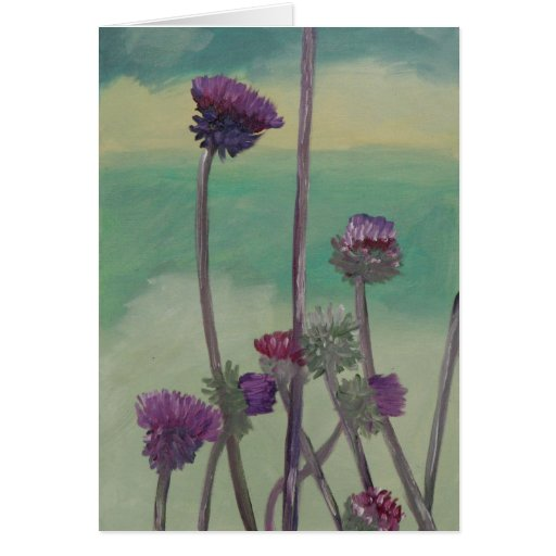 """Tristan's Thistles"" Greeting Card"