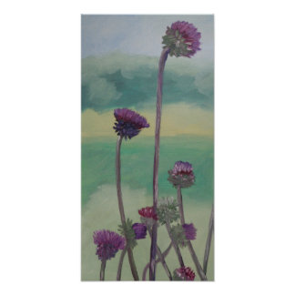 """""""Tristan's Thistles"""" Poster"""