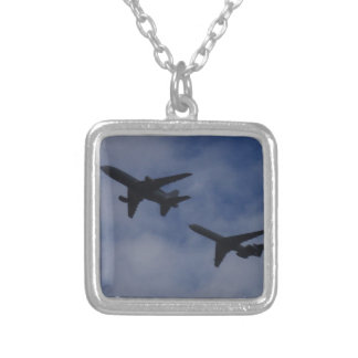 Tristar and VC10 Silver Plated Necklace