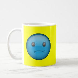 Triste azul taza básica blanca