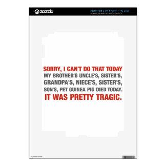 Triste biselo hago eso hoy… iPad 3 pegatinas skins