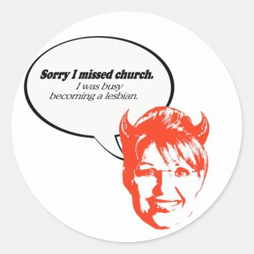 Triste falté la iglesia. Estaba ocupado el hacer u Pegatina