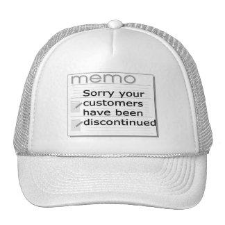 Triste han interrumpido a sus clientes gorras de camionero