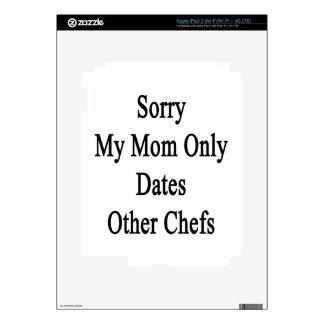 Triste mi mamá fecha solamente a otros cocineros pegatina skin para iPad 3