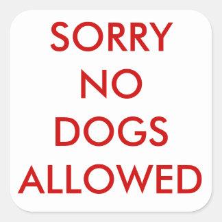 Triste ningún pegatina de los perros