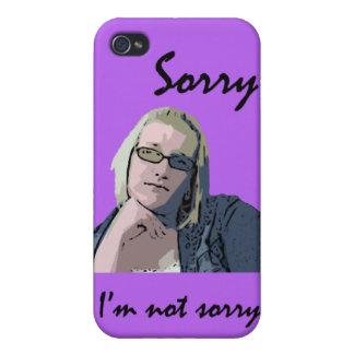Triste no lo siento iPhone 4 carcasa