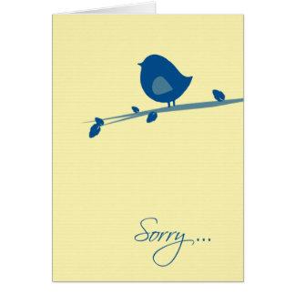 Triste oír hablar su Pérdida-Pájaro en rama de Tarjeta De Felicitación
