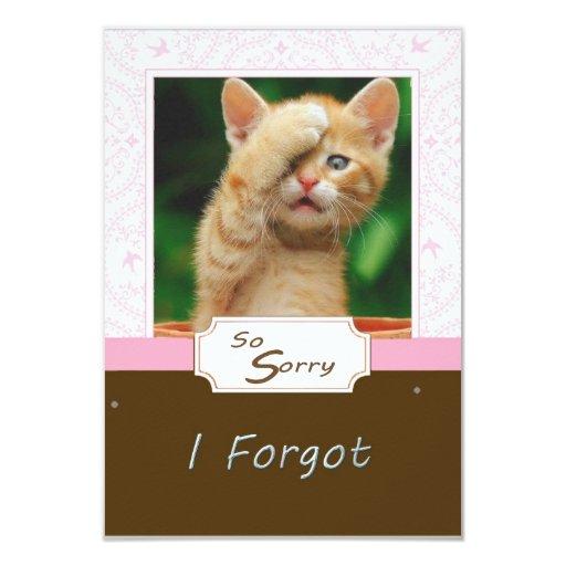 Triste olvidé tarjetas comunicados personales