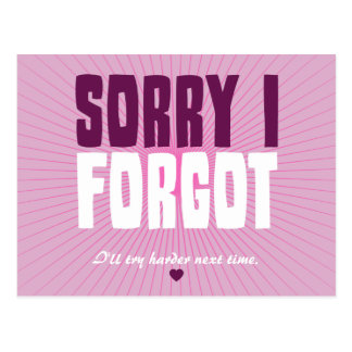 Triste olvidé tarjetas postales