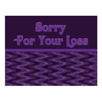Triste para su pérdida postales