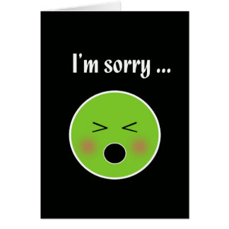 Triste para vomitar--tarjeta chistosa de la discul