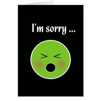 Triste para vomitar--tarjeta chistosa de la tarjeta de felicitación
