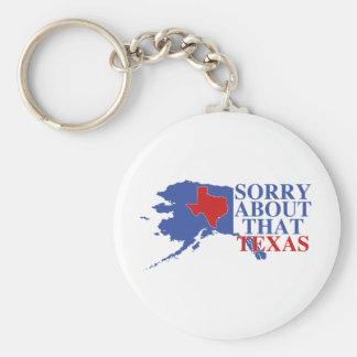 Triste sobre ese orgullo de Tejas - de Alaska Llavero Personalizado