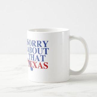 Triste sobre ese orgullo de Tejas - de Alaska Tazas De Café