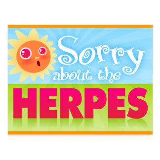 """""""Triste sobre postal del herpes"""""""