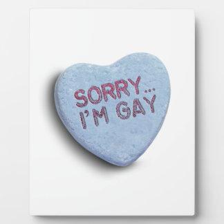 TRISTE soy CARAMELO GAY Placa Para Mostrar