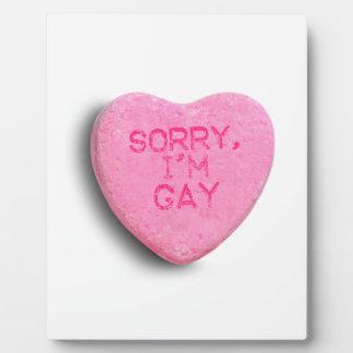 TRISTE soy GAY Placa Para Mostrar