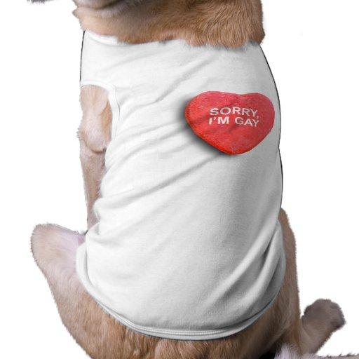 TRISTE, soy GAY Camisetas De Perrito