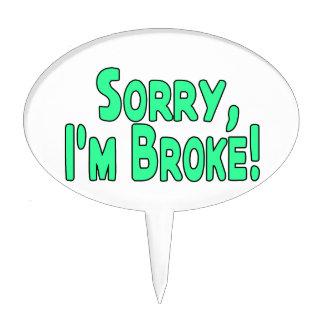 Triste soy me rompí figuras de tarta