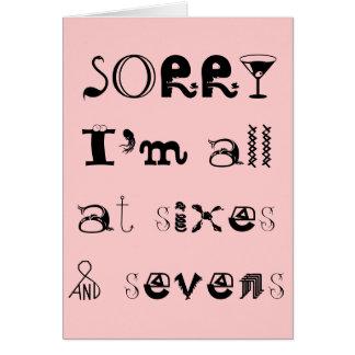 Triste soy todo en Sixes y la tarjeta de Sevens