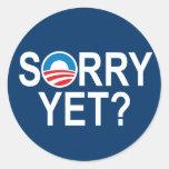 ¿TRISTE TODAVÍA? - artículos de anti-obama Etiquetas Redondas