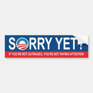 ¿Triste todavía Obama anti Etiqueta De Parachoque