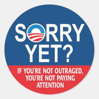 ¿Triste todavía Obama anti -- Nobama Pegatina Redonda