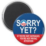 ¿Triste todavía? Productos de Anti-Obama Imán Redondo 5 Cm