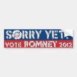 ¿Triste todavía? Voto Romney Pegatina De Parachoque
