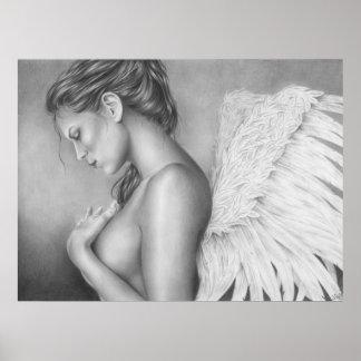 Tristeza de un poster del ángel