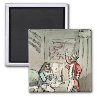 Tristram Shandy, 1786 2 Inch Square Magnet