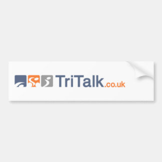 Tritalk with web address bumper sticker