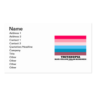 Tritanopia Blue-Yellow Color Blindness Business Card