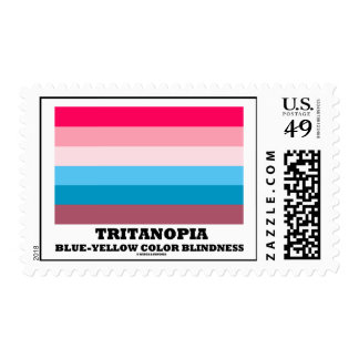 Tritanopia Blue-Yellow Color Blindness Postage