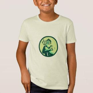 Triton Arms Crossed Trident Circle Retro T-Shirt