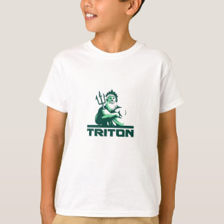 Triton Arms Crossed Trident Front Retro T-Shirt