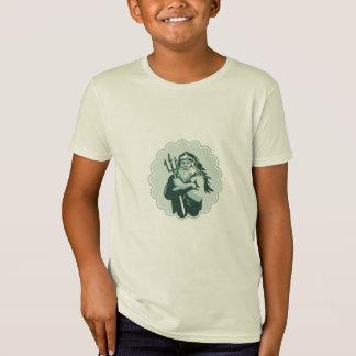 Triton Arms Crossed Trident Rosette T-Shirt