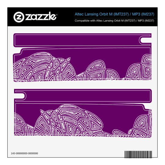 Triton AX 720 Skin - Waves - Custom Color Decal For Orbit M Speaker