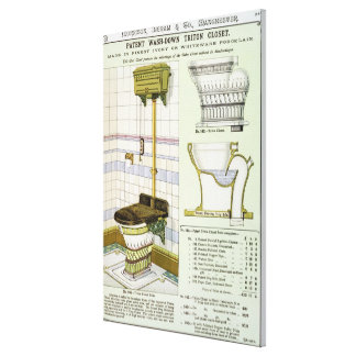Triton Closet from a catalogue of sanitary wares p Canvas Print