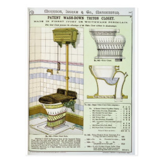 Triton Closet from a catalogue of sanitary wares p Postcards