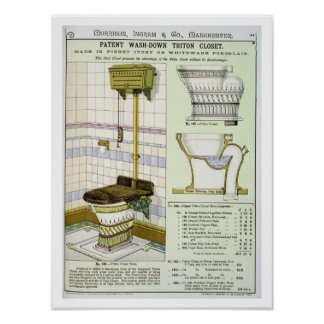 Triton Closet from a catalogue of sanitary wares p Poster