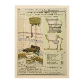 Triton Closet from a catalogue of sanitary wares p Wood Wall Art