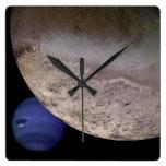 Tritón con Neptuno Reloj