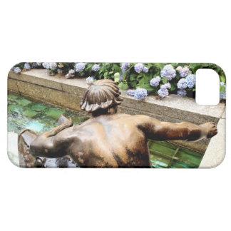 Tritón de bronce, caja griega del teléfono de dios funda para iPhone 5 barely there