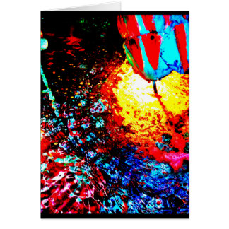 """Triton Fountain One"" JTG Art Greeting Card"