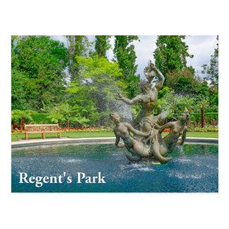 Triton fountain Regent's Park London Postcard