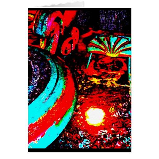 """Triton Fountain Two"" JTG Art Greeting Card"